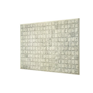 Large plaque with ideographic writing from the Tem Canvas Print