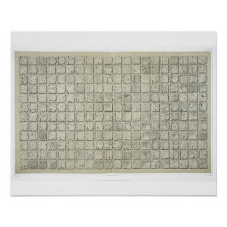 Large plaque with ideographic writing from the Tem Poster