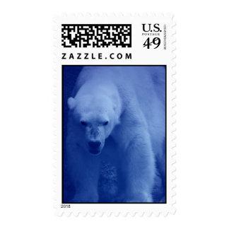 Large Polar Bear Postage Stamp
