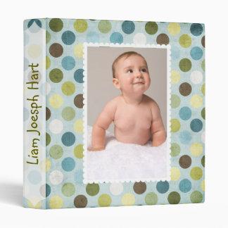 Large Polka Dot Baby Album Binder