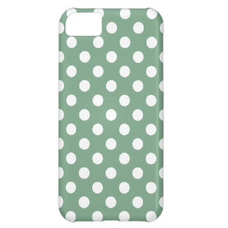 Large Polka Dot Green iPhone 5 Case