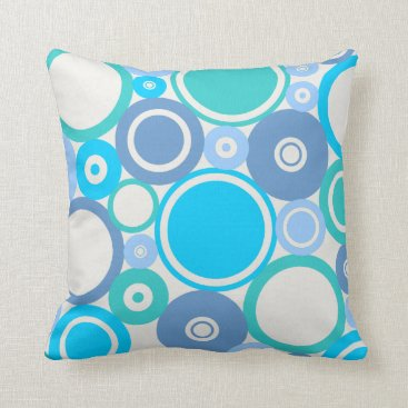Beach Themed Large Polka Dots Beach theme Throw Pillow