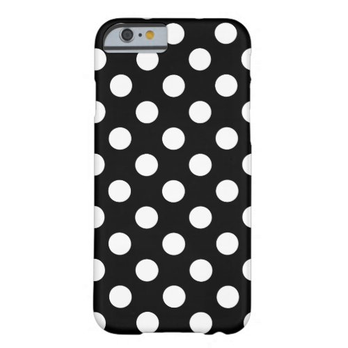 Large Polka Dots black and white sample trend Phone Case