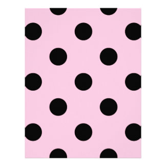 Large Polka Dots - Black on Cotton Candy Letterhead