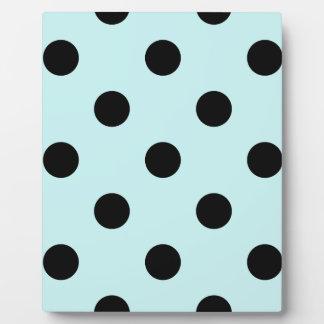 Large Polka Dots - Black on Pale Blue Plaque