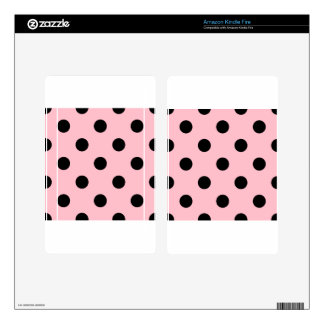 Large Polka Dots - Black on Pink Decal For Kindle Fire