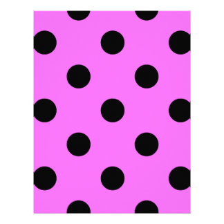 Large Polka Dots - Black on Ultra Pink Letterhead