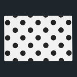 "Large Polka Dots - Black on White Placemat<br><div class=""desc"">Polka dots are one of these evergreen patterns you never get tired of. What is more, they are suitable for almost any kind of product. These black on white polka dots are just one of the many polka dots designs you can find in my shop. If you browse through the...</div>"