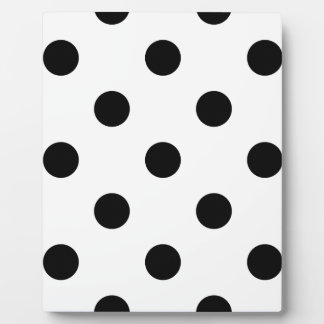 Large Polka Dots - Black on White Plaque