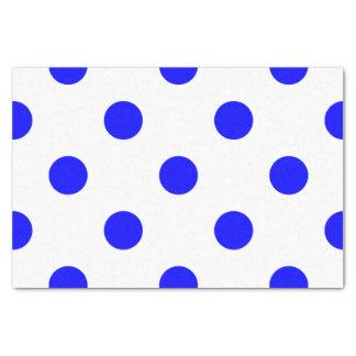 Large Polka Dots - Blue on White Tissue Paper