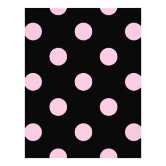 Large Polka Dots - Cotton Candy on Black Letterhead