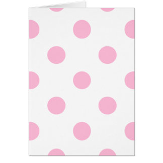 Large Polka Dots - Cotton Candy on White Card