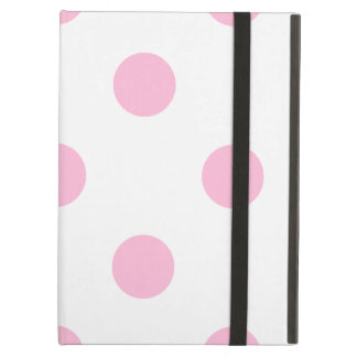 Large Polka Dots - Cotton Candy on White iPad Air Case