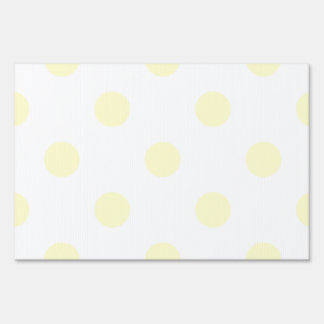 Large Polka Dots - Cream on White Lawn Sign