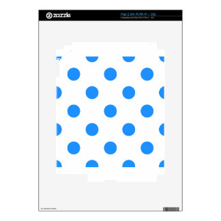 Large Polka Dots - Dodger Blue on White Skin For iPad 2