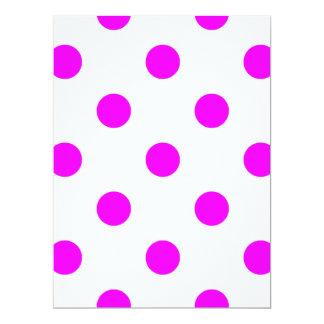 Large Polka Dots - Fuchsia on White Card