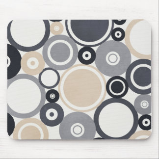 Large polka dots grey and brown Mousepad