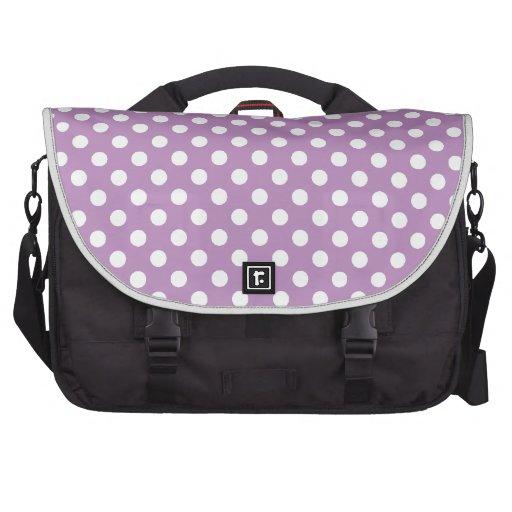 Large Polka Dots on Purple Laptop Bag
