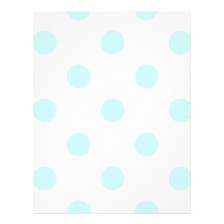 Large Polka Dots - Pale Blue on White Letterhead