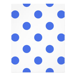 Large Polka Dots - Royal Blue on White Letterhead