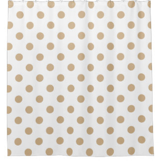 tan and white shower curtain. Large Polka Dots  Tan on White Shower Curtain Curtains Zazzle