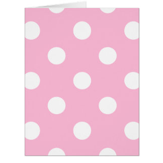 Large Polka Dots - White on Cotton Candy Card