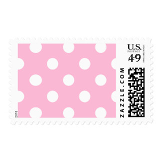 Large Polka Dots - White on Cotton Candy Postage
