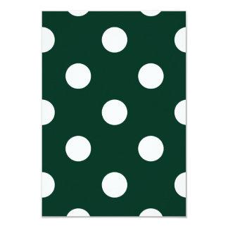 Large Polka Dots - White on Dark Green Card