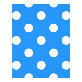 Large Polka Dots - White on Dodger Blue Letterhead