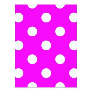 Large Polka Dots - White on Fuchsia Card
