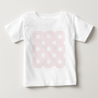 Large Polka Dots - White on Pale Pink Baby T-Shirt