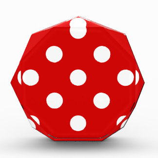 Large Polka Dots - White on Rosso Corsa Award