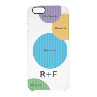 Large Polka Dots with R+F Colors Clear iPhone 6/6S Case