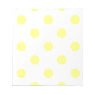 Large Polka Dots - Yellow on White Notepad