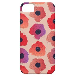 large poppy pop pop red on cream iPhone 5 case