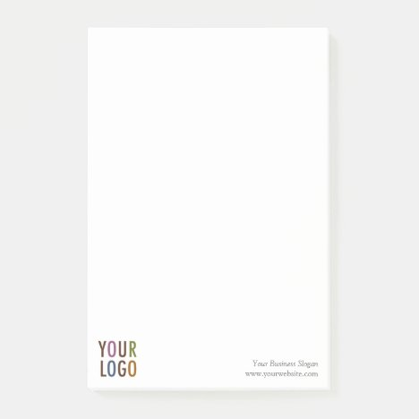 Large Post-it® Notes Notepad Custom Business Logo