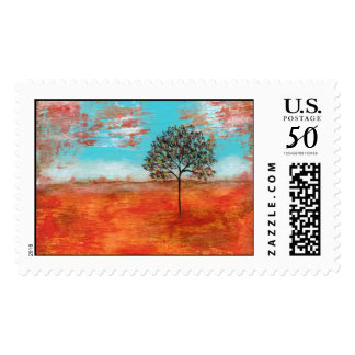 Large Postage Stamps I Will Revere Painting