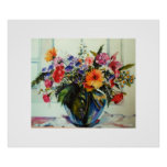 """Large poster, """"colorful bouquet of spring flowers"""""""