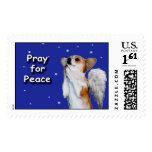 Large Pray for Peace Dott Angel W Postage