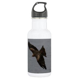 Large predator bird over water 18oz water bottle