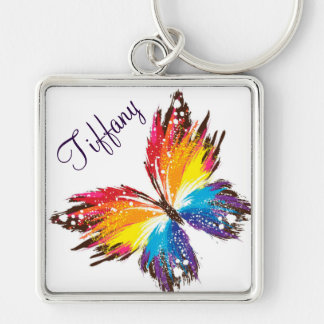 Large Premium Square Keychain/Butterfly Keychain