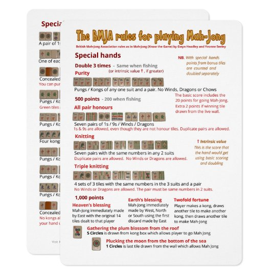 photograph regarding Mahjong Card Printable called Significant Print BMJA suggestions card Exceptional palms