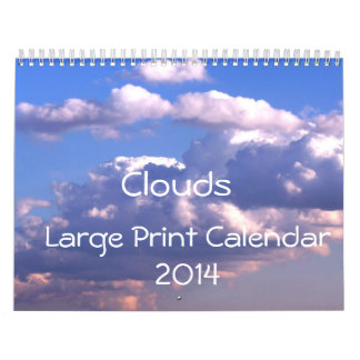 Large Print Calendar 2014 - Clouds