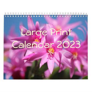 Large Print Calendar 2014 - Flowers