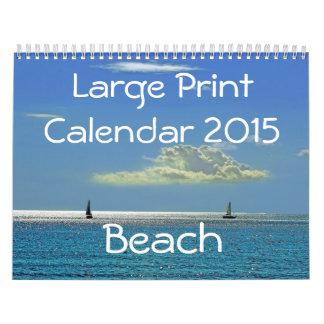 Large Print Calendar 2015 - Beach