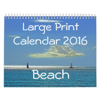 Large Print Calendar 2016 - Beach