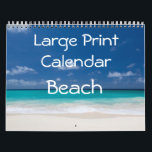 "Large Print Calendar - Beach<br><div class=""desc"">In Large Print Calendar you can find beautiful pictures of beaches from all over the world. Calendar has customizable text on front page and United States events and holidays are added too.</div>"