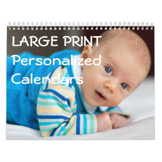 Large Print Personalized Calendars