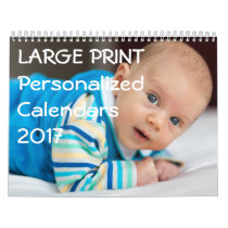 Large Print Personalized Calendars 2017