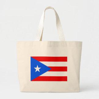 Large Puerto Rican Flag Jumbo Tote Bag